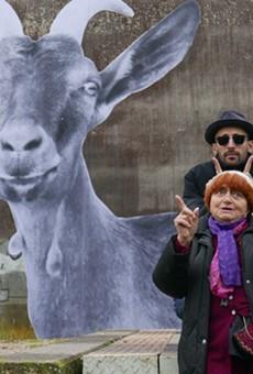 "Filmmaker Agnès Varda and street artist JR in ""Faces Places."""