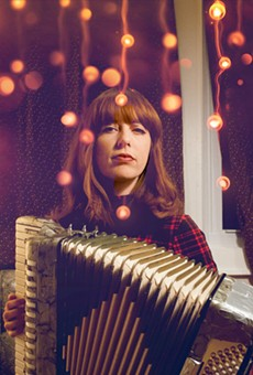 """Katie Preston wrote the song """"The Poinsettia Song"""" back in 2012. She performs with the The Abominable Snowband routinely during the holiday season."""