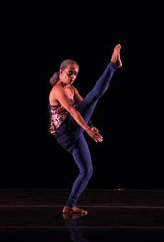 "Natalie Rogers dances ""Estrogen/Genius"" at Nazareth College as part of Garth Fagan's home season."