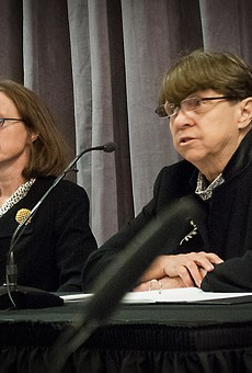 Mary Jo White, senior chair of the law firm Debevoise & Plimpton, delivers the results of her investigation into the University of Rochester's handling of accusations against Professor Florian Jaeger
