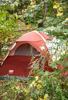 A homeless encampment along South Avenue could soon be dismantled.