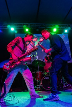 Moon Hooch rocked the Big Tent on Sunday as part of the 2018 Xerox Rochester International Jazz Festival. The band plays again Monday. Bring your own glow sticks.
