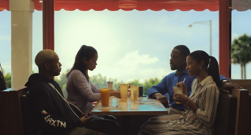 "Kelvin Harrison Jr., Taylor Russell, Sterling K. Brown, and Renée Elise Goldsberry in ""Waves."" - PHOTO COURTESY A24"