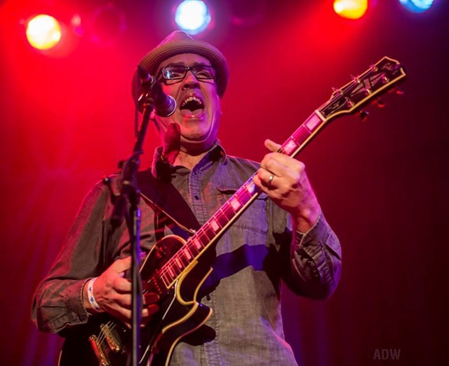 Blues guitarist Steve Grills will play a sold-out show on June 2 at Fanatics Pub, the first in ts Drive-In Concert series. - PHOTO BY AARON WINTERS