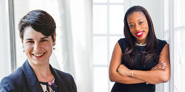 County Clerk Democratic primary candidates Jamie Romeo (left) and Jennifer Boutte (right).