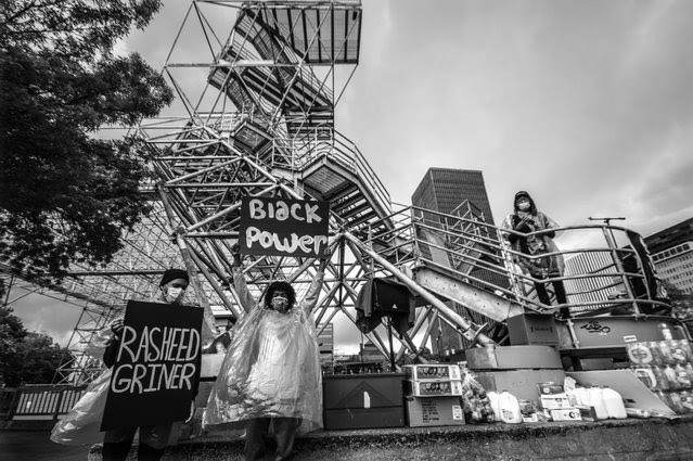 """""""Black Power,"""" an image by Rochester-based photographer Erica Jae, will be part of an art installation accompanied by a series of events at The Black House."""
