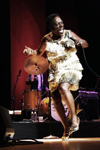 Sharon Jones and the Dap Kings performed in Kodak Hall on Thursday, June 25. - PHOTO BY FRANK DE BLASE