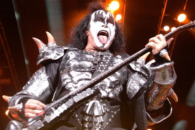 KISS bassist Gene Simmons. - PHOTO BY FRANK DE BLASE