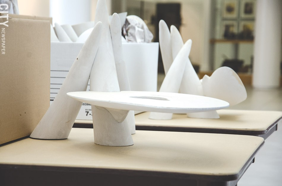 Scale models of fine art furniture by Wendell Castle. - FILE PHOTO