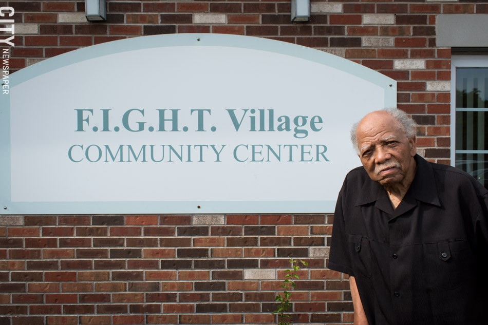Franklin at FIGHT Village apartments on Ward Street. - PHOTO BY RYAN WILLIAMSON