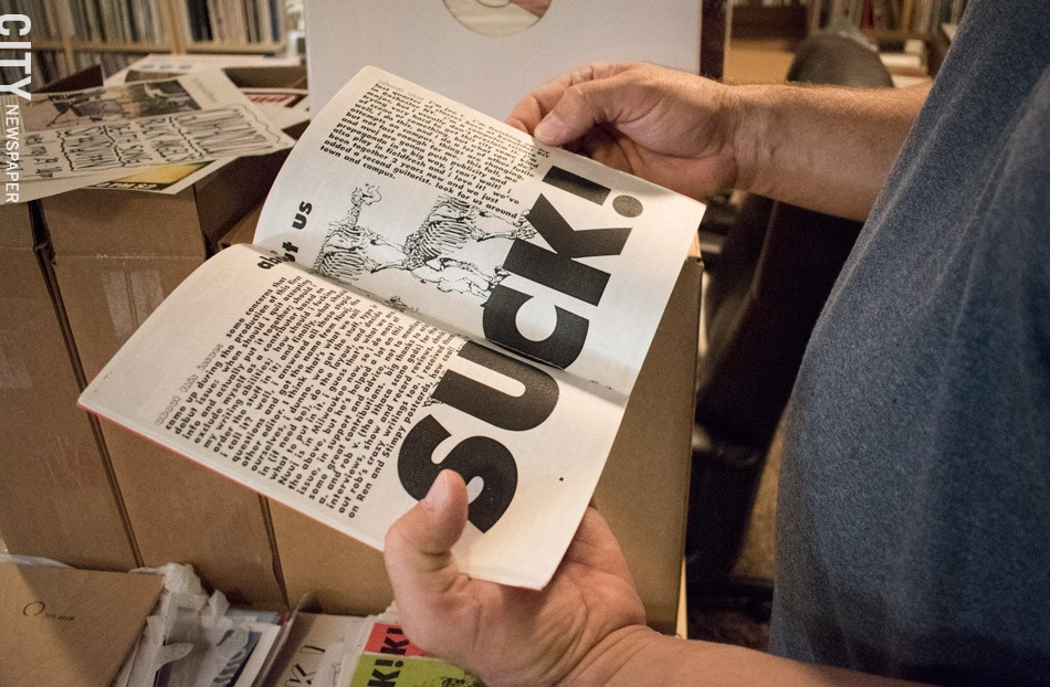 One of the many zines that live in Carbon Records' HQ. - PHOTO BY JACOB WALSH