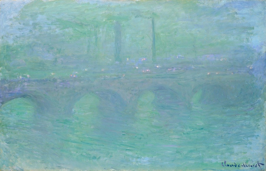 """Waterloo Bridge, London, at Dusk,"" 1904. - IMAGE COURTESY THE NATIONAL GALLERY OF ART, WASHINGTON, DC"