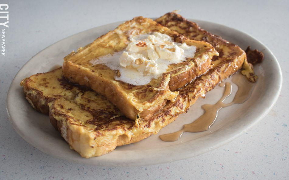 "The French toast at Jay's is ""fluffy, including the crust."" - PHOTO BY JACOB WALSH"