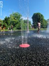 Finding relief: the spray park at the city's Humbolt recreation center.