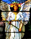 Winged angel window