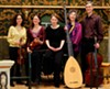 "For ""Dido in France and Italy,"" Publick Musick is (left to right) Mary Riccardi, Boel Gidholm, Naomi Gregory, Deborah Fox, and Christopher Haritatos."