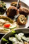 Falafel, the only fried item on the menu