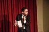 "Michael Burgos performed his one-man show, ""The Eulogy,"" at Writers & Books Thursday evening."