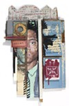 "Artist Jean-Michel Basquiat is the subject of Stahl's assemblage, ""The Price of Salt."""