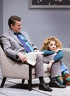 "<p>John Scherer as Greg and Jennifer Cody as Sylvia in the Geva Theatre Center production of ""Sylvia.""</p>"