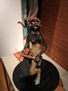Krampus sculpture by Matt Roberts.