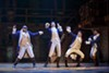 "Mathenee Treco, Jordan Donica, Ruben J. Carbajal, and Michael Luwoye in ""Hamilton."""