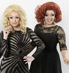 """Aggy Dune and Mrs. Kasha Davis star as two traveling drag queens in """"The Legend of Georgia McBride."""""""