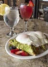 Blades' Avocado Toast and Pink Lady mimosa.