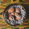 Bofrot (puff puff) is a sweet pastry on the menu at Akwaaba.