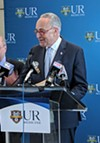 During a press conference at University of Rochester Medical Center, Senator Chuck Schumer called for the release of Robert Mueller's report on his investigation into possible connections between President Donald Trump's campaign and Russia. Schumer held the press conference to call for continued federal funding of a URMC opioid treatment program.