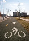 The bike path along Union Street is part of an effort to create a more bike-friendly city.