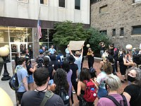 Protesters march to DA's office, call for Doorley's resignation