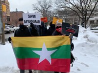 Rochester's Burmese residents protest Myanmar military coup