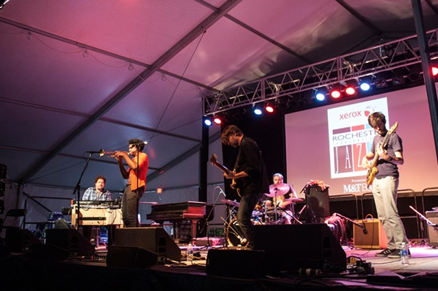 Jazz Fest 2015, extra shots: The Dirk Quinn Band and Cloudmakers Trio