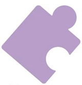 A purple puzzle piece, used as a symbol for autism awareness - Uploaded by CaitlinMadison