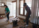PHOTO BY JACOB WALSH - Volunteers are rehabbing a once-vacant house in the Beechwood neighborhood.