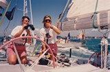 "PHOTO COURTESY SONY PICTURES CLASSICS - Sailors Tracy Edwards and Mikaela Von Koskull in a scene from the documentary ""Maiden."""