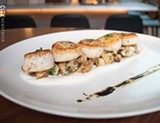 PHOTO BY JACOB WALSH - Caramelized scallops.