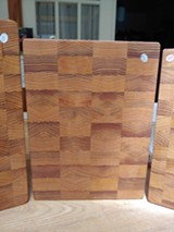 End Grain Fir Cutting Boards - Uploaded by Rochester Folk Art Guild
