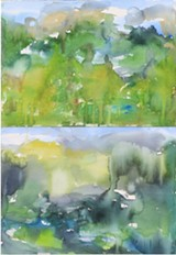 Tomorrow will come on its green footsteps #4, watercolor on paper, 2020 - Uploaded by Cho