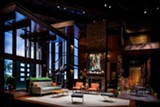 """Scenic design for Geva Theatre Center production of """"Guess Who's Coming to Dinner"""" by Rob Koharchik, the featured guest at Stage Whispers: Conversations with Theatre Professionals on Thursday, April 1, 2021. - Uploaded by Stuart Ira Soloway"""