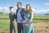 "PHOTO COURTESY COLUMBIA PICTURES - Emma - Stone, Bradley Cooper, and Rachel McAdams in ""Aloha."""