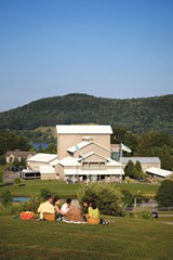 The areas around the theater at the Glimmerglass Opera Festival offers scenic spaces for relaxing between productions. - PHOTO BY CLAIRE MCADAMS