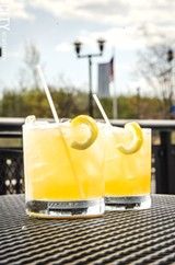 """Lovin' Cup's American Beauty, or as bartender Andrew Kern calls it, a """"rich man's whiskey sour."""" - PHOTO BY MARK CHAMBERLIN"""