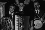 PHOTO BY REUBEN RADDING - Tuba player Marcus Rojas, accordionist Will Holshouser, and banjoist Matt Munisteri will perform as Musette Explosion at Bop Shop Records on Tuesday, August 11.