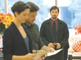 "PHOTO COURTESY STX ENTERTAINMENT - Rebecca Hall, Jason Bateman, and Joel Edgerton in ""The - Gift."""