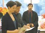 "PHOTO COURTESY STX ENTERTAINMENT - Rebecca Hall, Jason Bateman, and Joel Edgerton in ""The - Gift."""
