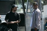 "PHOTO COURTESY UNIVERSAL PICTURES - O'Shea - Jackson Jr. and Corey Hawkins in ""Straight Outta - Compton."""