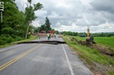 FILE PHOTO - Last year, several roads in Richmond were washed out after a July storm dumped 6 inches of rain on the town in three hours. Some of the same areas were damaged again during flooding this past June.
