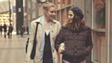 "PHOTO COURTESY FOX SEARCHLIGHT PICTURES - Greta Gerwig and Lola - Kirke in ""Mistress America."""